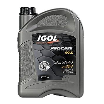Aceite Motor automóvil sintético 5 W40 process Gold IGOL: Amazon.es: Coche y moto