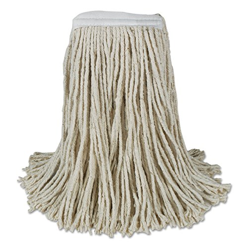 Boardwalk CM20020 Banded Cotton Mop Heads, Cut-End, 20 oz, W