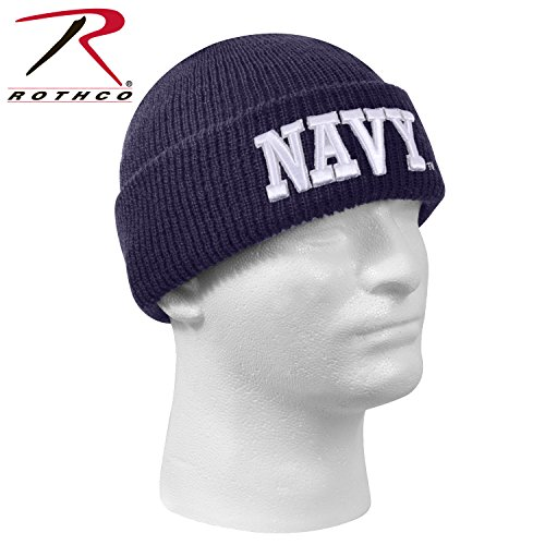 Rothco Deluxe Military Embroidered Watch Cap, Emblem : Navy