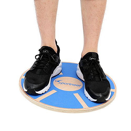 sportneer-wooden-balance-board-for-exercise-gym-sport-performance-enhancement-rehab-training-blue
