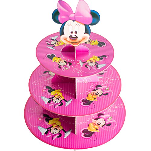 BETOP HOUSE Cute Round Minnie Mouse Dessert Muffin Cupcake Holder Cupcake Stand]()