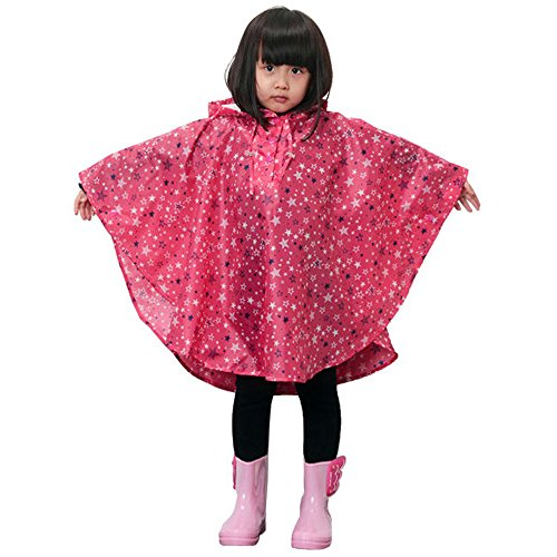 Ezyoutdoor Raincoat Rain Poncho Coat Rainwear Hood Sleeve for Child Outdoor Children Kids Walking Travel Motorcycle Bike Riding Camping Hiking Bivouac Fishing (Best Ironman Costume)