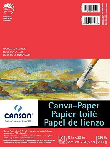 Canson 100510841 Paper Canvas Pad, 9