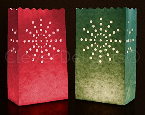 50 Pk - CleverDelights Red & Green Luminary