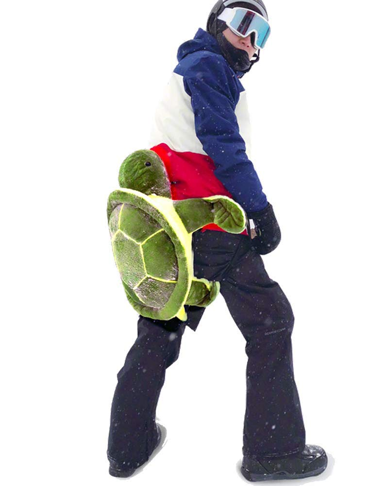 Warm Homes Protective Gear Skiing Skating Snowboarding Turtle Cushion Pad for Protecting Hip & Knee (Green, 80cm for Adult)