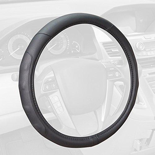 (Motor Trend SW-761-BK-M_AM Black Ergonomic ComfortGrip Originals Steering Wheel Cover for Car Auto (Sedan Truck SUV Minivan) - Universal Fit 14.5