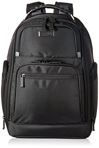 "- Kenneth Cole Reaction 1680d Polyester Expandable Double Gusset 17.0"" Laptop Backpack, Black"