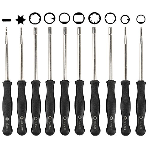 HIPA Pack of 10 Carburetor Adjustment Tool Kit for Common 2 Cycle Engine Husqvarna Craftsman Chainsaw Weed Eater Echo STIHL Poulan MTD Ryobi Homelite Trimmer