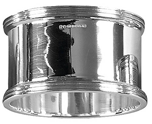 Silver Ribbed Edge Napkin Ring by Orton West by Orton West