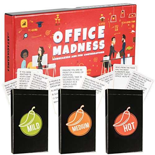 OFFICE MADNESS: 3-in-1 Office Game | Team Building Card Game with Fun Icebreakers and Conversations for Office - Funny Office Party, Off Site, Corporate Retreat Game. Office Gift or Desk Toy! (Best Interview Questions To Ask Employee)