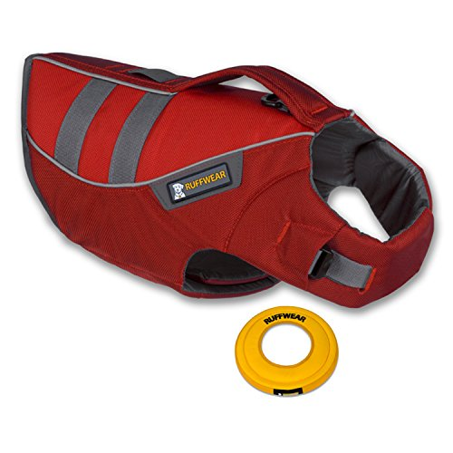 Ruffwear K-9 Float Coat Lifejacket (Red Currant - M) with Hydro Plane Throwing D