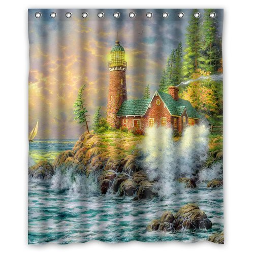 Custom Personalized Lighthouses Shower Curtain 60 x (Personalized Lighthouse)