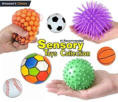 12 Pc Sensory Integration Products & Tools; Stress Reliever Autistic ADHD Toys Variety Pack for Kids - Fidget Toys