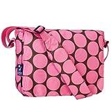 Wildkin Big Dots Kickstart Messenger Bag, Pink