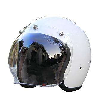 AMZ Casco de la Cara Abierta Vintage, Casco de Moto Jet Bobber Chopper Crash 3