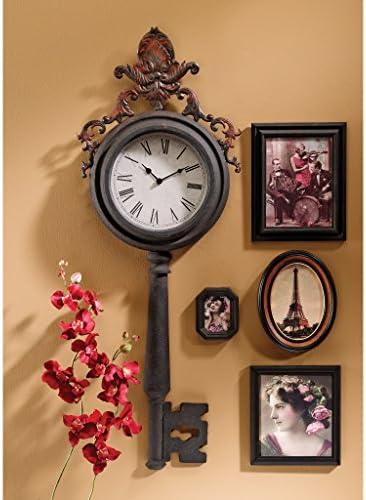 Design Toscano MH35067 Unlocking Time Key Wall Clock,black