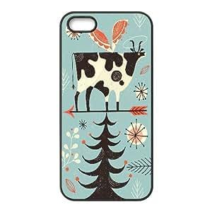 Zachcolo Holy Cow iPhone 5,5S Case, Iphone 5s Case For Men {Black}