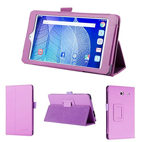 wisers 2016 ALCATEL ONETOUCH POP 7 LTE 7-inch Tablet case/Cover, Purple (One Alcatel Model P310a Touch)