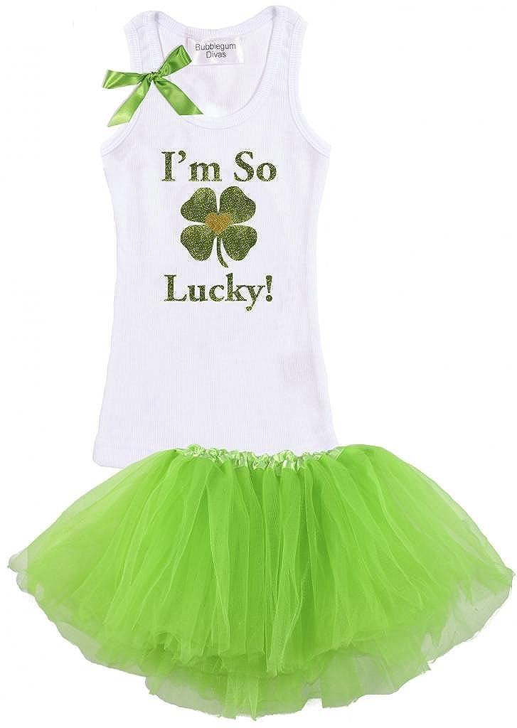 Patricks Im So Lucky Tank Tutu Set Bubblegum Divas Little Girls St