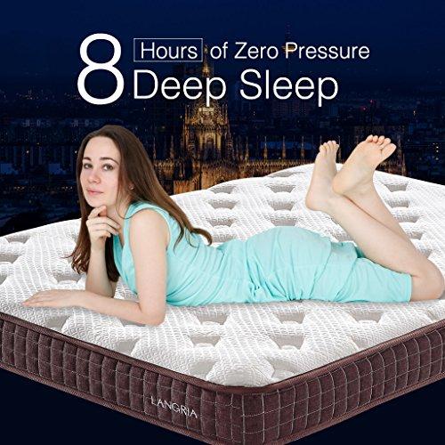 LANGRIA 8-Inch Essential Comfort Memory Foam Ma...