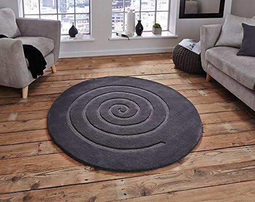 100 Wolle Spirale Braun Gold Grau Elfenbein Und Rot Teppich Rund Teppich In 2 Grossen Circle Grau 140 X 140 Cm 4 7 X4 7 Round Amazon De Kuche Haushalt