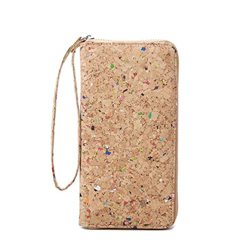 Lam Gallery Vegan Cork Wallets Purse Handbags for Womens Eco Friendly Cork Clutch Bag (Colorful)