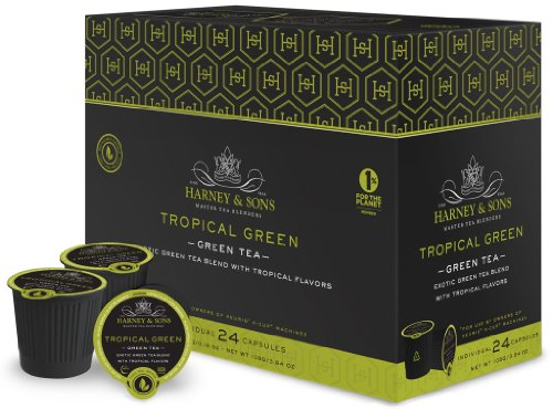 Harney and Sons Tropical Green Tea Capsules (48 - Vue Green Tea