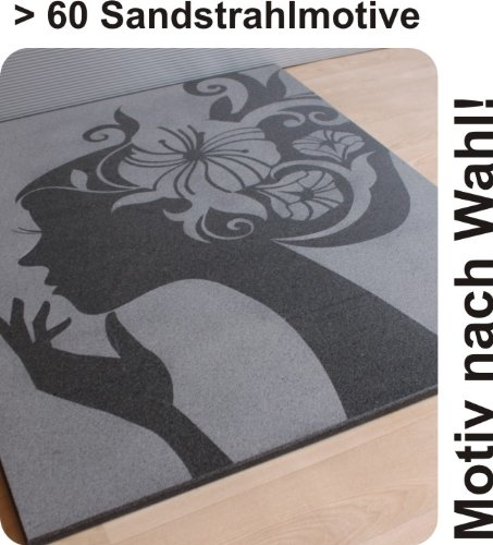 100 x 120 cm Rechteck Bodenplatte Funkenschutzplatte f. Kaminofen & Pelletofen - echter Granit - Motiv nach Wahl!