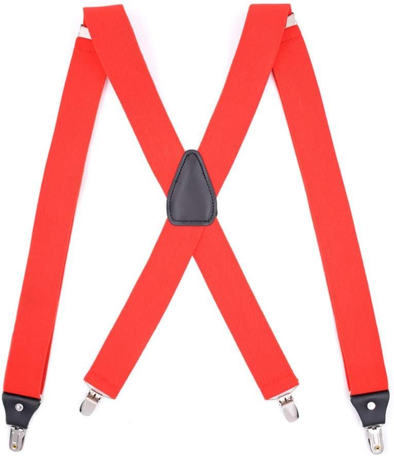 YIJIAHUI Tirantes Tirantes Tirantes para Hombre con Forma de X de 3,5 cm de Ancho de un tamaño Ajustable y elásticos de Alta Resistencia Accesorio para Hombres
