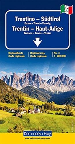 Italien 03. Trentino / Südtirol 1 : 200 000. Straßenkarte (Kümmerly+Frey Reisekarten)