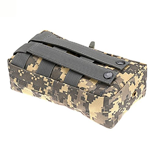 600D Nylon Tactical MOLLE UTILITY Tasche Camping Jagd Military Combat Weste Tasche Greyish white