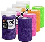 3M Vetrap 4'' Bright Color Bandaging Tape, 4''x 5 Yards, 3M Box, 12 Roll Case (Bright Color Combo)