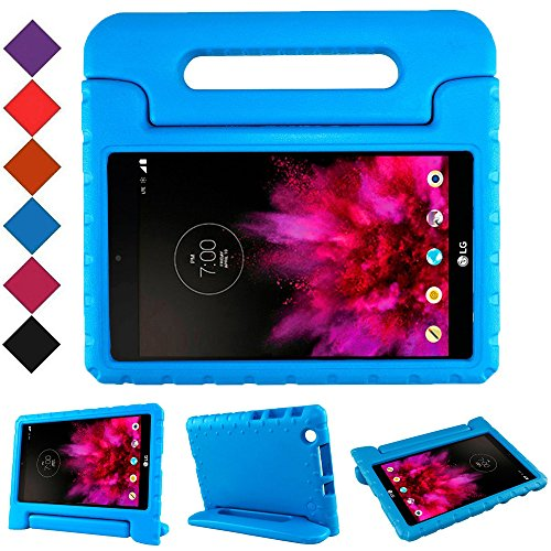 BMOUO Kids Case for LG G Pad X 8 0 - Carry Handle Child Stand Holder EVA  Foam Shock Proof Case Cover for LG G Pad X 8 0 Inch V-520/V-521 Tablet  (Blue)