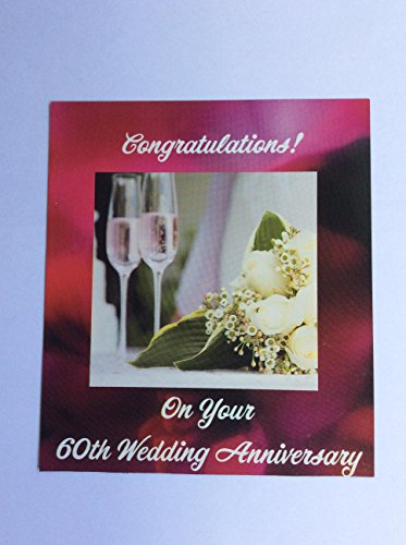 60th Wedding Anniversary Magnets with Champagne -