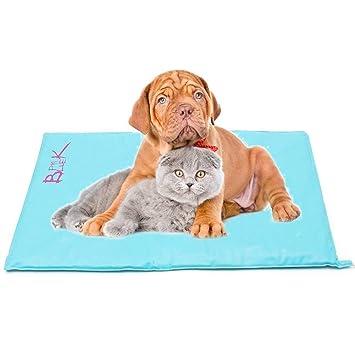 LELUN Calentador Cama para Mascotas,10 Niveles Eléctrica Pet Auto Calefacción Mat Impermeable A Prueba