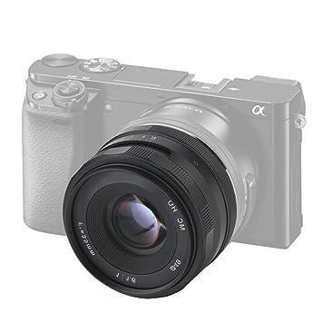 Cámara de 35 mm F1.6 len, Lente de cámara sin Espejo con Enfoque ...