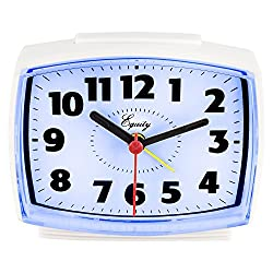 Equity by La Crosse 0 33100 Electric Alarm Clock with Lighted Dial, White