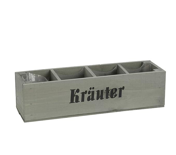 Dehner Kräuterkistchen Pflanzgefäß, ca. 44 x 11.5 x 12.5 cm, Holz ...