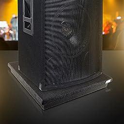 Pyle PSi15 Acoustic Subwoofer Sound Isolation Platform Dampening Recoil Stabilizer Speaker Riser Platform Base (for Studio Monitor, Subwoofer, Loudspeakers, Shelf Speakers, etc.) 15\'\' x 15\'\', Single Unit