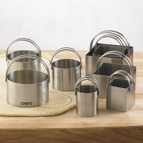8-pc. Stainless Steel Round and Square Biscuit Cutters by CHEFS