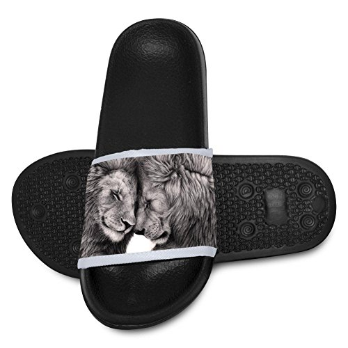 Price comparison product image Kid Slippers Big Cat Lion Love Predator Soft Sandals Teen 3D Print Shoes Home Pontoufle 1 Big kid
