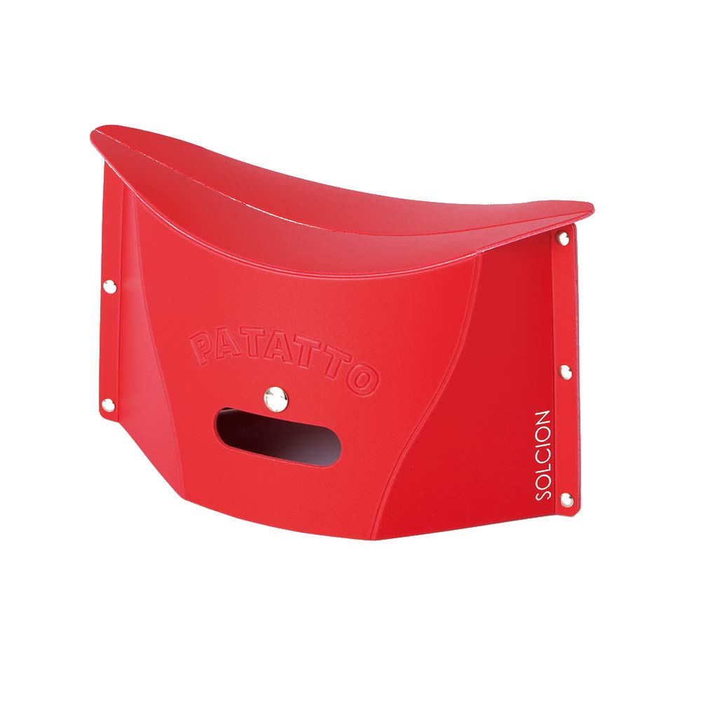 SOLCION Portable Folding Stool for Camping, Fishing, Hiking. 150 Model, Lightweight 0.23kg, Load Capacity 100Kg. Easy to Carry and Store. Suitable for Adults and Kids Indoors or Outdoors(Red Small) by SOLCION
