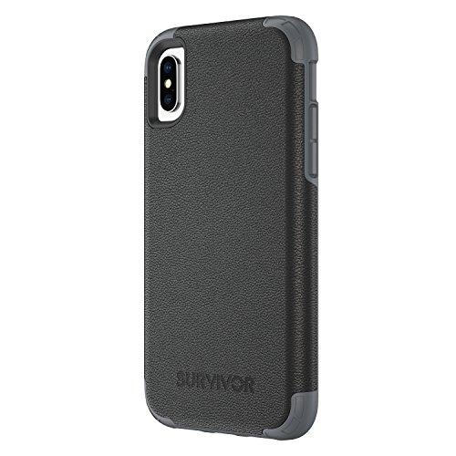 Griffin TA43867 Schutzhülle für Apple iPhone X schwarz leder