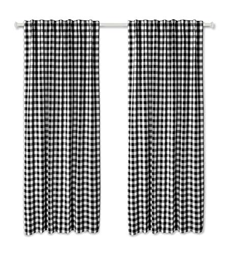 Linen Clubs Buffalo Window Curtain Panel in Plaid Cotton 50