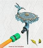 Brass Decorative Lawn & Garden Sprinkler – Sunflower with a Hummingbird