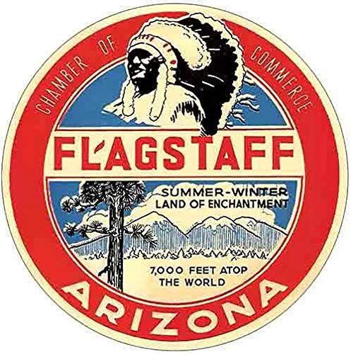 Flagstaff Arizona Circle Vintage Decal Sticker Souvenir