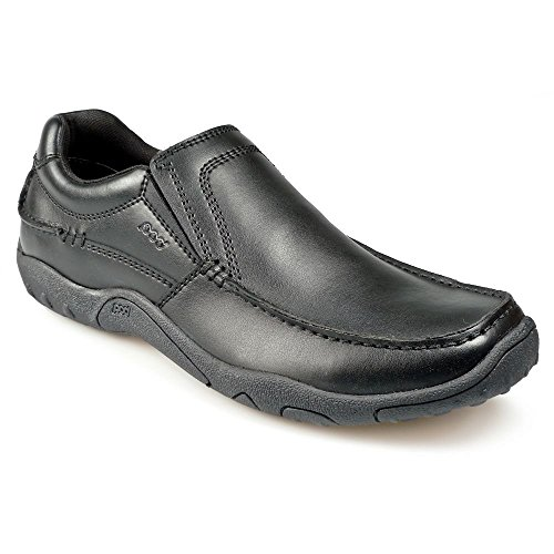 POD MEN'S TONY BLACK SLIP ON SHOES IN SIZE UK6 TO UK15 i5dkFqn