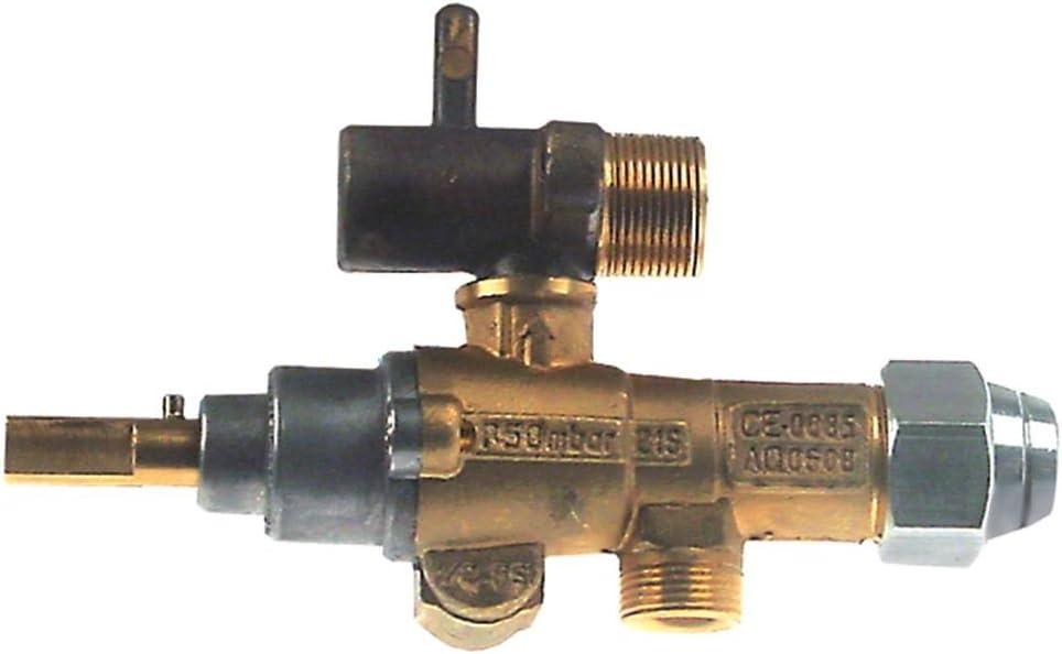 ambach Gas grifo tipo gpel21r – con tubo de salida Ø 10 mm: Amazon.es: Grandes electrodomésticos