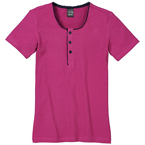 Schiesser Mädchen Schlafanzugoberteil Shirt 1/2, Gr. 152, Rot (beere 512)