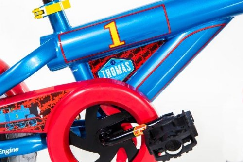 Dynacraft Thomas The Train Boys Bike with Realistic Sounds 14'', Blue/Red/Black by Nickelodeon (Image #4)